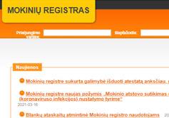 Mokinių registras prisijungti internetu